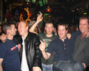 Glenn, Mark, Robert, Kevin, David. Kevin is clearly too drunk to walk.